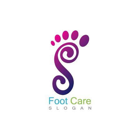 Foot Health Logo Template Design Vector, Emblem, Concept Design, Creative Symbol, Icon Vettoriali