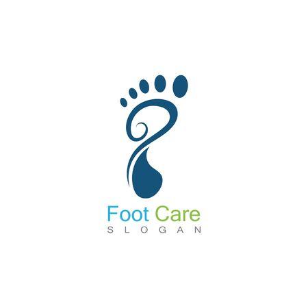 Foot Care Logo Template Design Vector, Emblem, Concept Design, Creative Symbol, Icon Logos