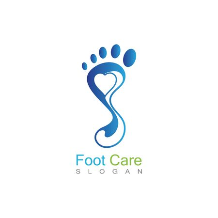 Foot Care Logo Template Design Vector, Emblem, Concept Design, Creative Symbol, Icon Banco de Imagens - 141189322