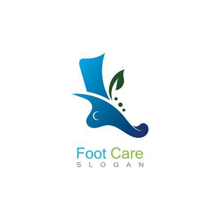 Foot Care Logo Template Design Vector, Emblem, Concept Design, Creative Symbol, Icon Banco de Imagens - 141189323
