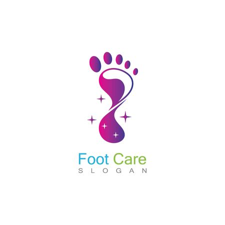Foot Care Logo Template Design Vector, Emblem, Concept Design, Creative Symbol, Icon Banco de Imagens - 141189324