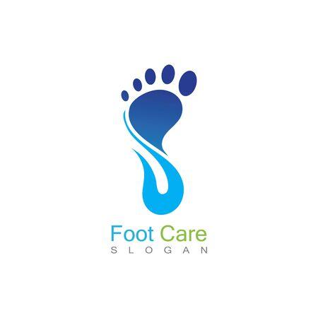 Foot Care Logo Template Design Vector, Emblem, Concept Design, Creative Symbol, Icon Banco de Imagens - 141189328