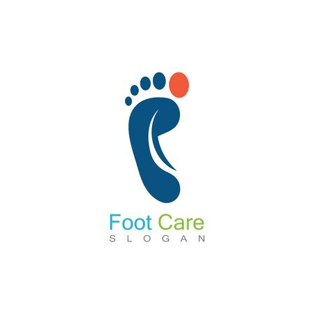 Foot Care Logo Template Design Vector, Emblem, Concept Design, Creative Symbol, Icon Archivio Fotografico - 141189332
