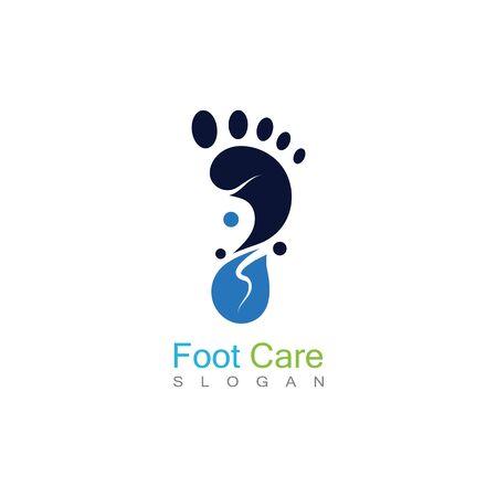 Foot Care Logo Template Design Vector, Emblem, Concept Design, Creative Symbol, Icon Banco de Imagens - 141189333