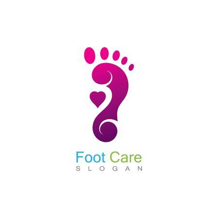 Foot Care Logo Template Design Vector, Emblem, Concept Design, Creative Symbol, Icon Banco de Imagens - 141189336