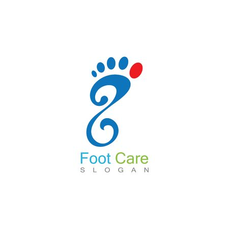 Foot Care Logo Template Design Vector, Emblem, Concept Design, Creative Symbol, Icon Banco de Imagens - 141422416