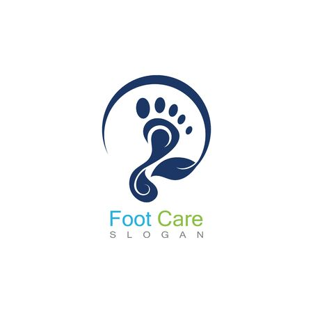 Foot Care Logo Template Design Vector, Emblem, Concept Design, Creative Symbol, Icon Banco de Imagens - 141422417
