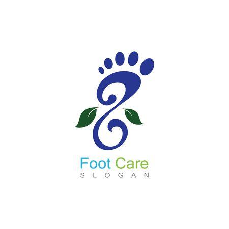 Foot Care Logo Template Design Vector, Emblem, Concept Design, Creative Symbol, Icon Banco de Imagens - 141422429