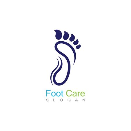 Foot Care Logo Template Design Vector, Emblem, Concept Design, Creative Symbol, Icon Banco de Imagens - 141422425