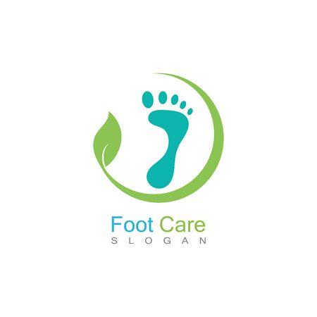 Foot Care Logo Template Design Vector, Emblem, Concept Design, Creative Symbol, Icon Banco de Imagens - 141422426
