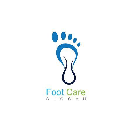 Foot Care Logo Template Design Vector, Emblem, Concept Design, Creative Symbol, Icon Banco de Imagens - 141422430