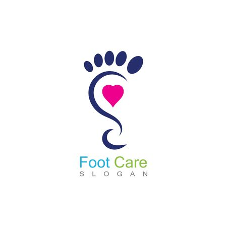 Foot Care Logo Template Design Vector, Emblem, Concept Design, Creative Symbol, Icon Banco de Imagens - 141422787