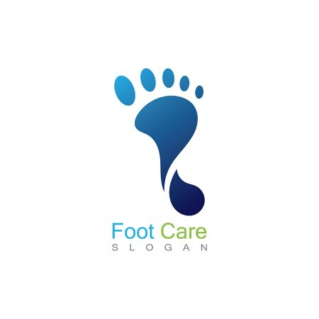 Foot Care Logo Template Design Vector, Emblem, Concept Design, Creative Symbol, Icon Banco de Imagens - 141422797
