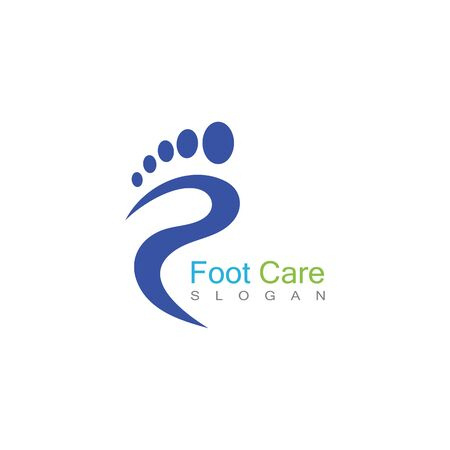 Foot Care Logo Template Design Vector, Emblem, Concept Design, Creative Symbol, Icon Banco de Imagens - 141422803
