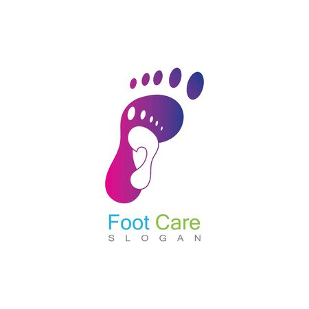 Foot Care Logo Template Design Vector, Emblem, Concept Design, Creative Symbol, Icon Banco de Imagens - 141422812