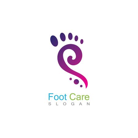 Foot Care Logo Template Design Vector, Emblem, Concept Design, Creative Symbol, Icon