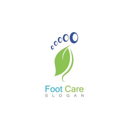 Foot Care Logo Template Design Vector, Emblem, Concept Design, Creative Symbol, Icon Banco de Imagens - 141423101