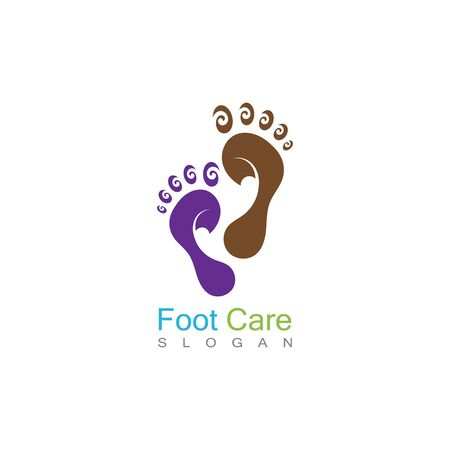 Foot Care Logo Template Design Vector, Emblem, Concept Design, Creative Symbol, Icon Banco de Imagens - 141423102