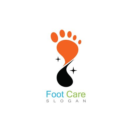 Foot Care Logo Template Design Vector, Emblem, Concept Design, Creative Symbol, Icon Banco de Imagens - 141423105