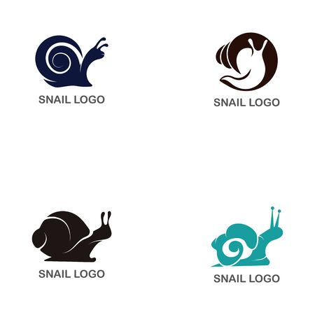 Set of  Snail logo creative template vector icon illustration design