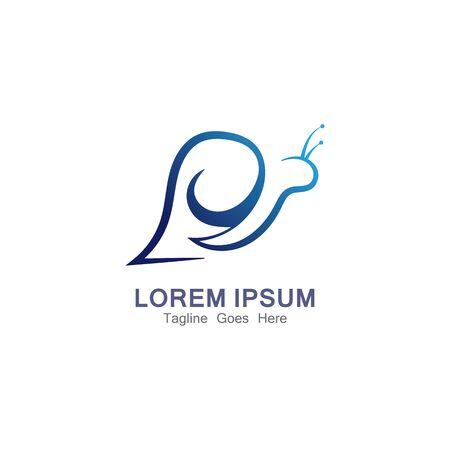 Snail Logo creative modern design inspiration vector
