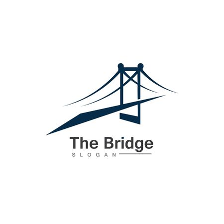 Business Bridge Logo Design Vector Icon Template design