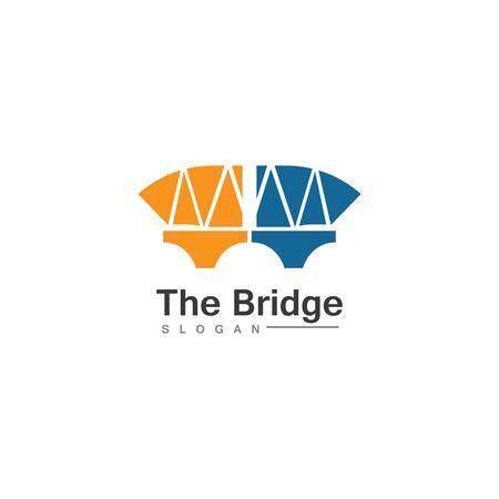 Business Bridge Logo Design Vector Icon Template design