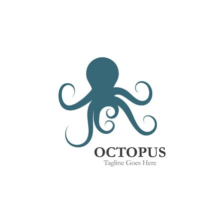 Octopus logo or symbol icon illustration design template