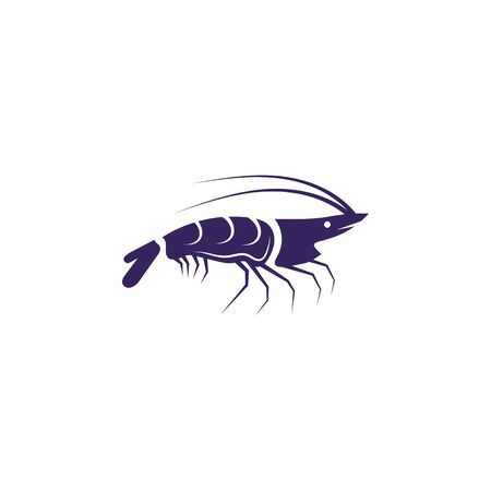 Shrimp vector icon illustration design template