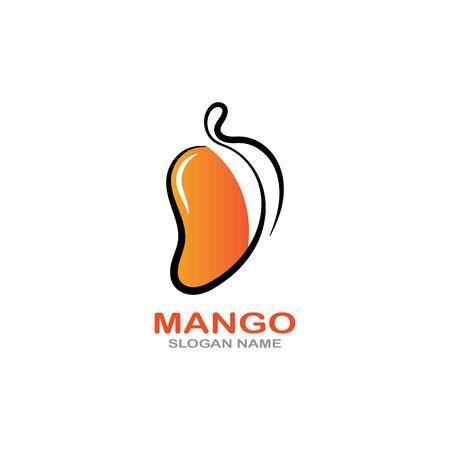Mango Fruit  Template vector illustration design Фото со стока - 142955478