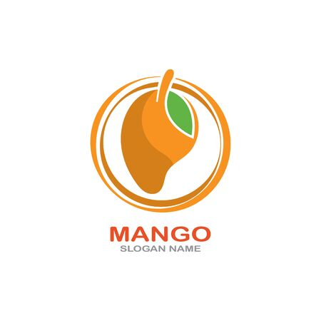 Mango Fruit  Template vector illustration design Фото со стока - 142955485