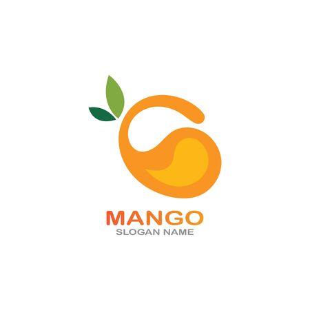 Mango Fruit  Template vector illustration design