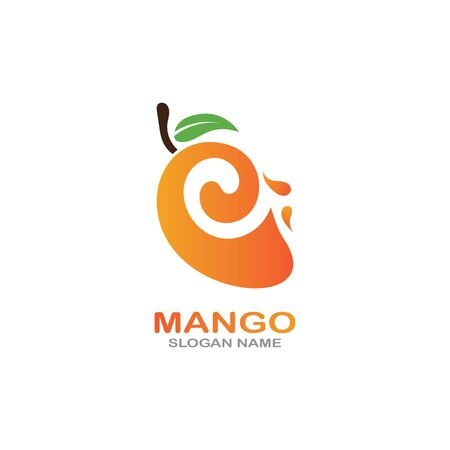 Mango Fruit  Template vector illustration design