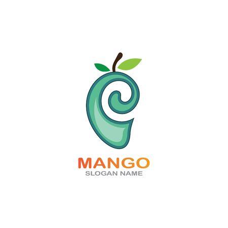 Mango Fruit in flat style. innovation vector   design icon Фото со стока - 142957585