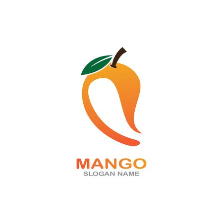 Mango Fruit in flat style. innovation vector   design icon