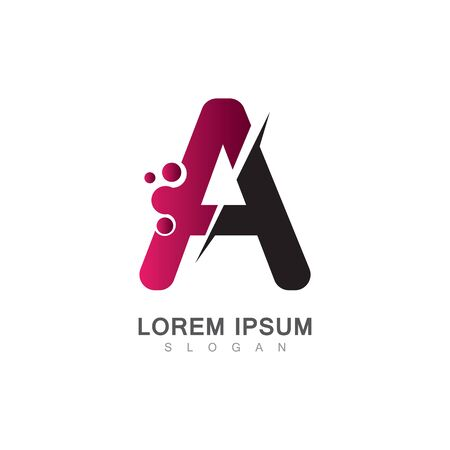 Letter A Icon With Creative design Modern. Vector Illustration Çizim