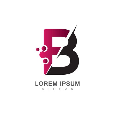 Letter B Icon With Creative design Modern. Vector Illustration
