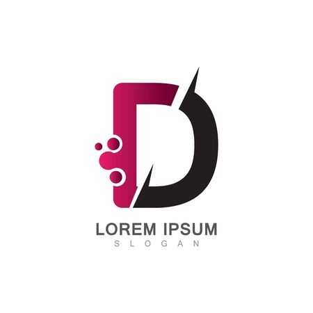 Letter D Icon With Creative design Modern. Vector Illustration
