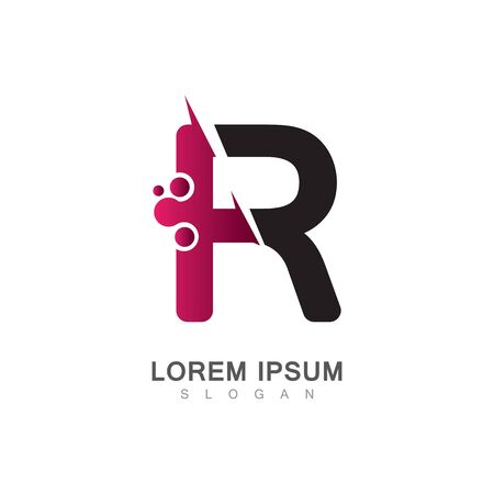 Letter R Icon With Creative design Modern. Vector Illustration Çizim