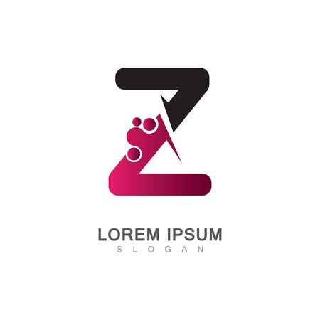 Letter Z Icon With Creative design Modern. Vector Illustration Çizim