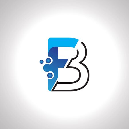 Letter B with Antom Creative logo or symbol template design