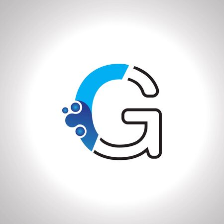 Letter G with Antom Creative logo or symbol template design Çizim