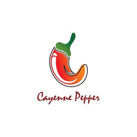Cayenne Pepper creative inspiration vector design