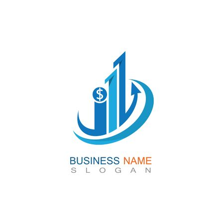 Business Finance professional logo template vector icon Çizim