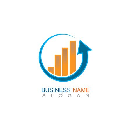 Business trading Finance Logo template vector icon design