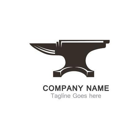 Anvil blacksmith design template on white Backgound