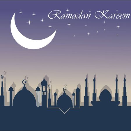 Ramadan Kareem Creative Mosque backkground illustration Islamic Design Vettoriali