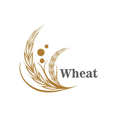 Agriculture wheat logo or symbol icon design illustration