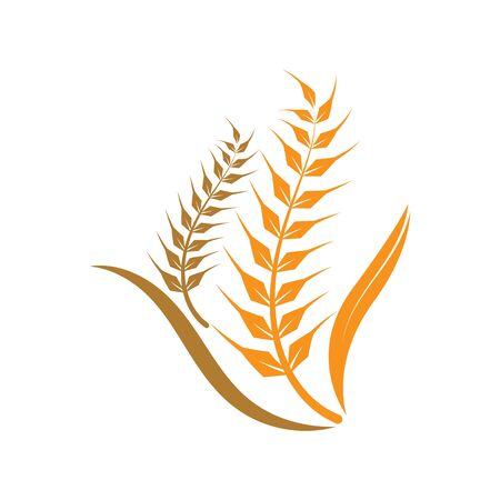 Agriculture wheat logo or symbol icon design illustration Иллюстрация