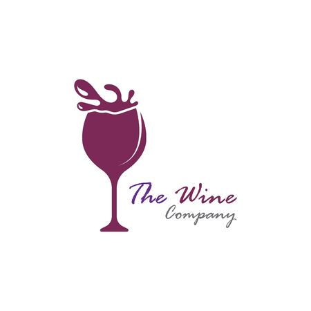 Wine logo on splash design template. Vector illustration